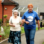 A guiding service for people with visual impairments